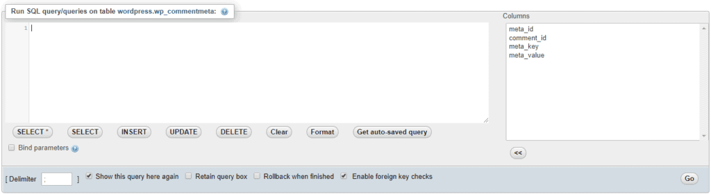 Image of the phpMyAdmin Query Builder